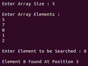Search An Element In Array C Program