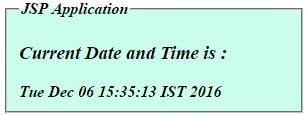 Print current date & time - JSP Program